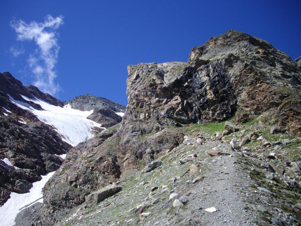 Il ghiacciaio di Volfrede e l'inizio della ferrata