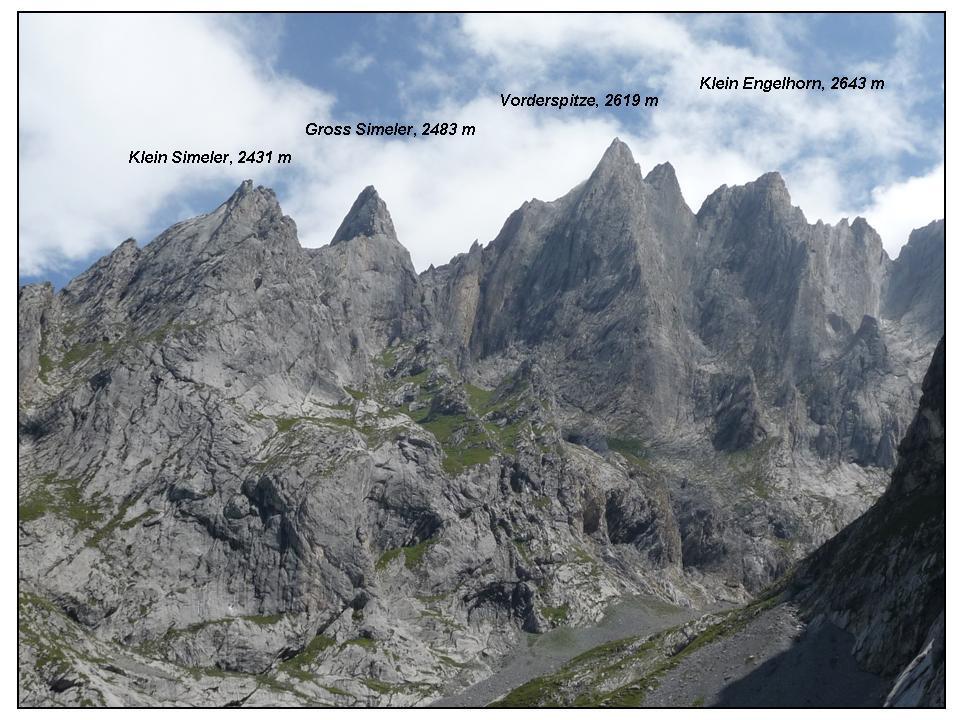 le cime del lato destro idrografico della Ocshental