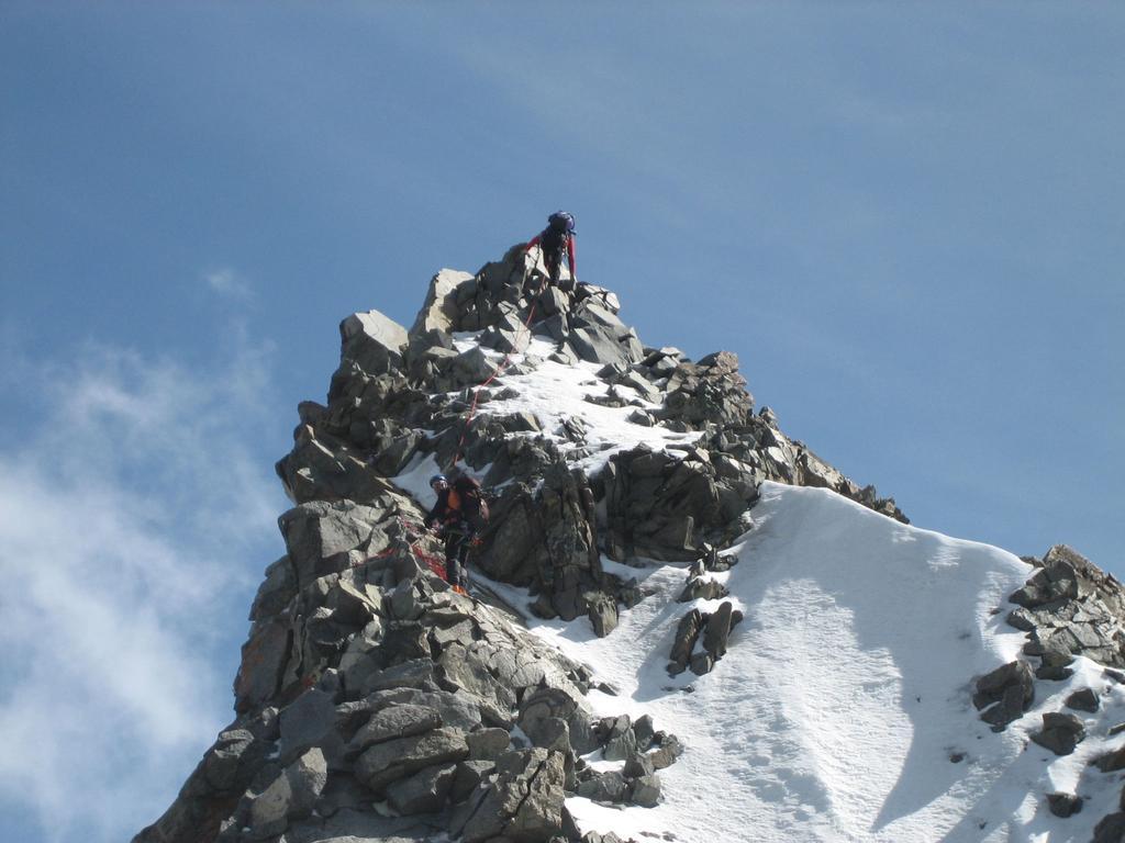 Sandro e Fabio sulla cresta finale.