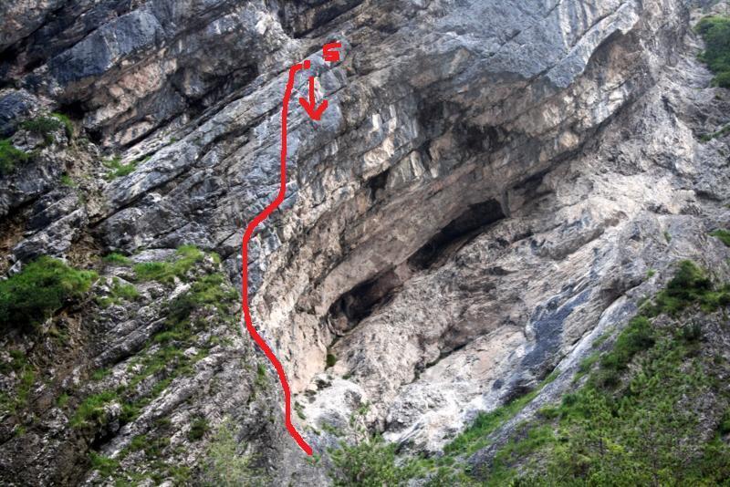 via del grottone roccia friabile!