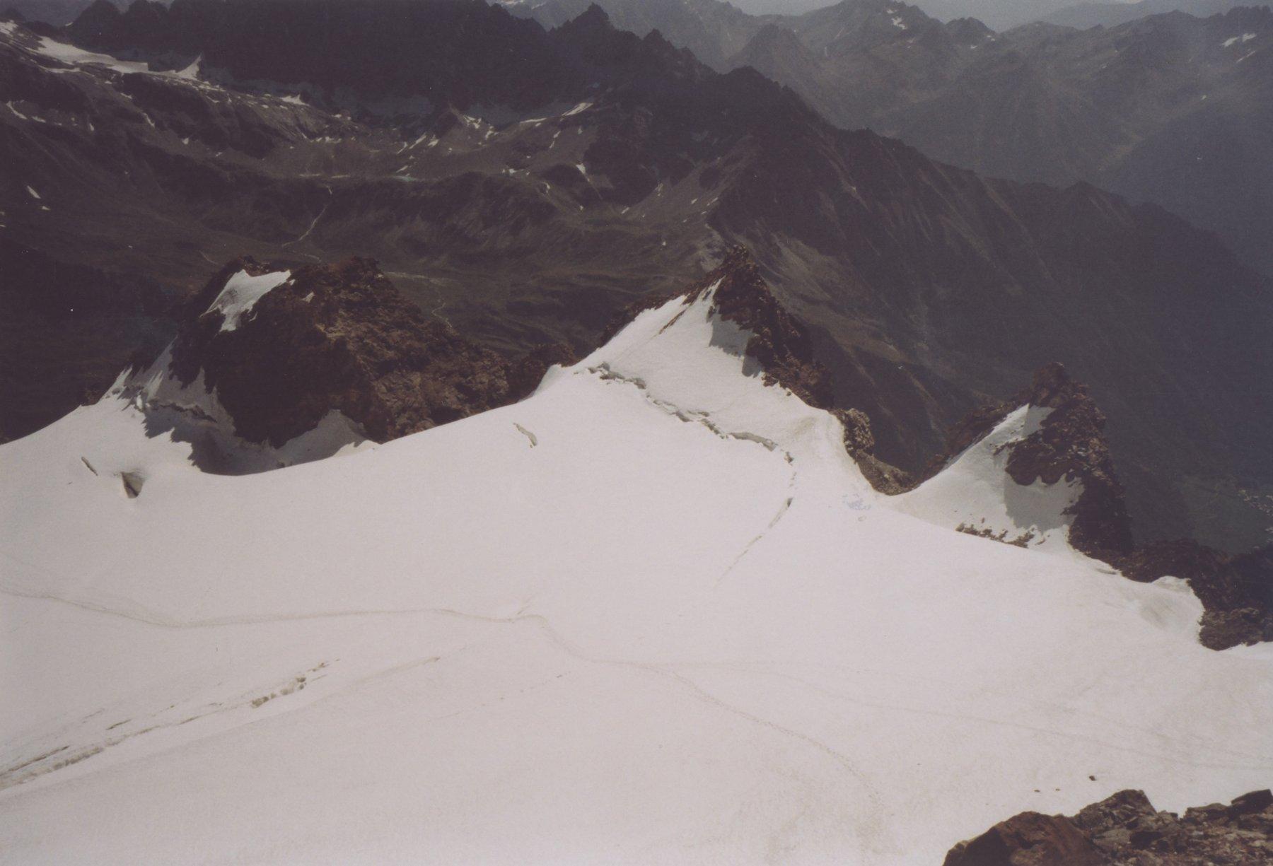 percorso su ghiacciaio