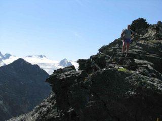 la punta Colmet e il ghiacciaio del Rutor