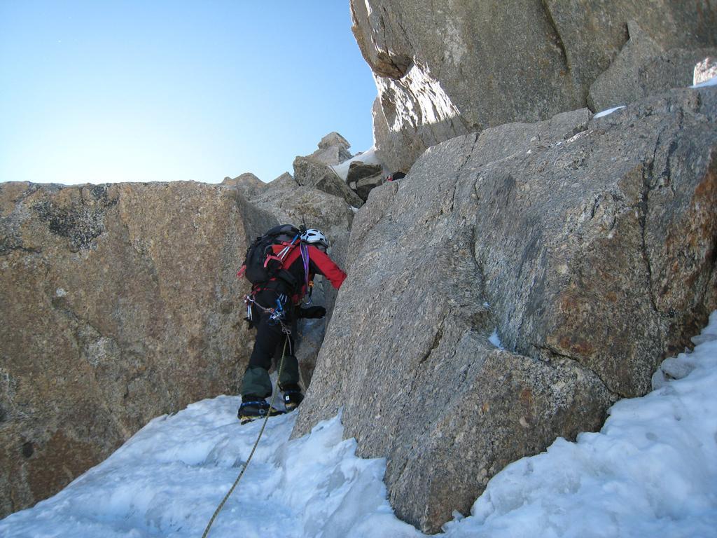 Le rocce prima della cima