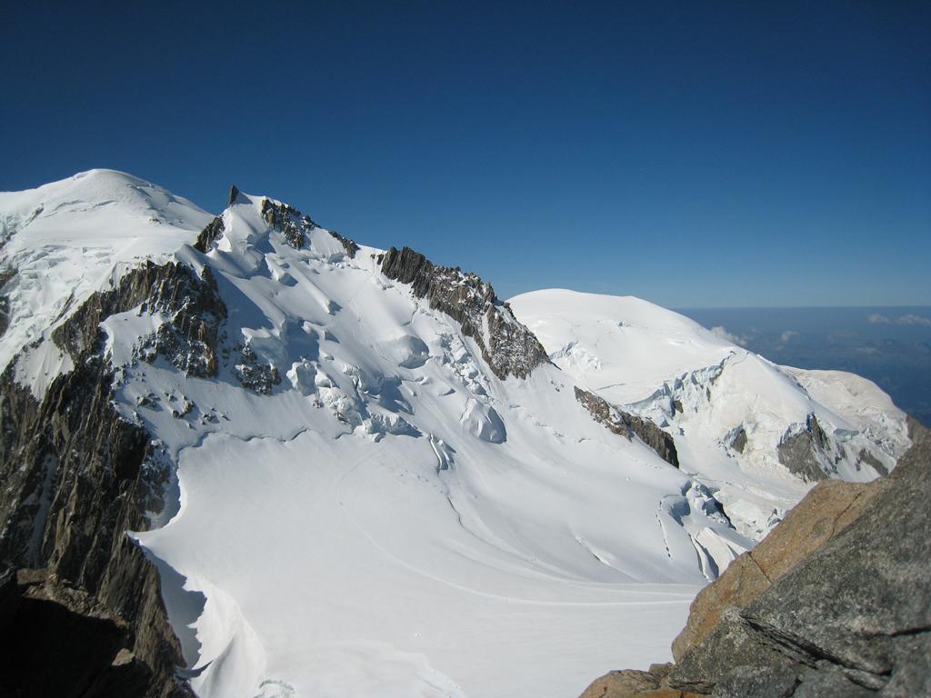 Mont Maudit e Monte Bianco dalla cima