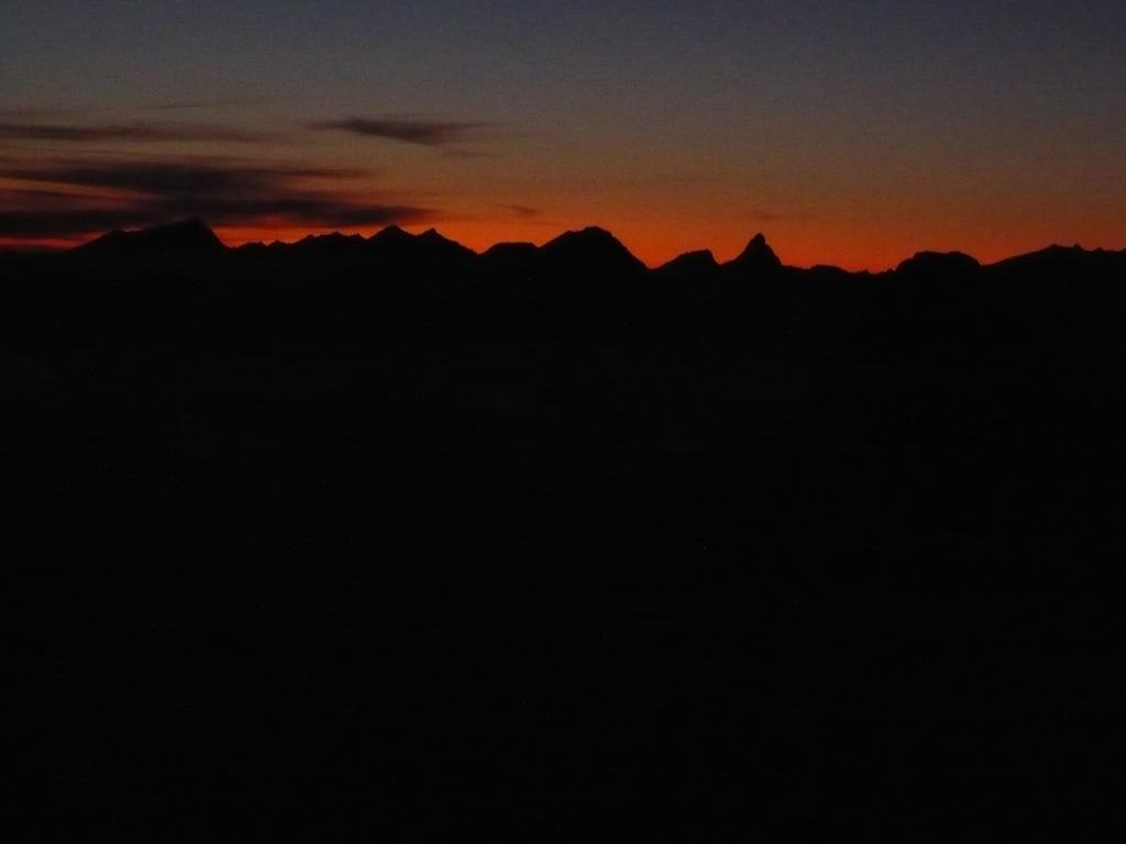 l'alba dlla vetta del Tacul