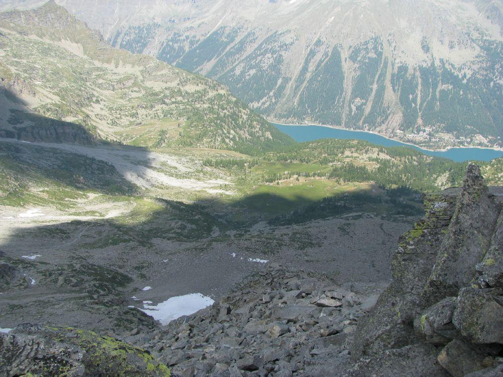 Lago di Ceresole dalla cima