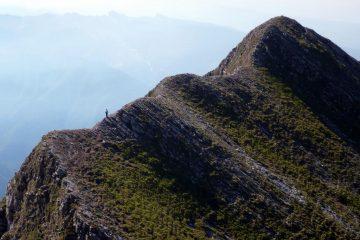 L'ultima parte della cresta verso lo Spallone