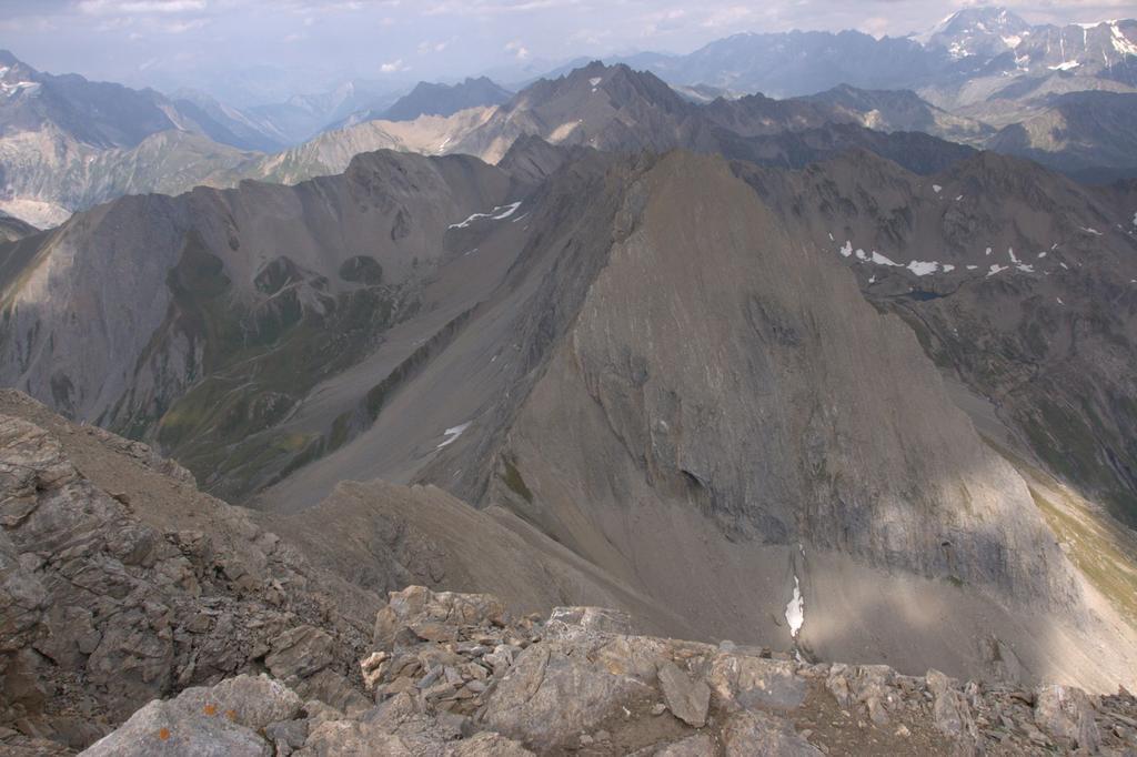 panorami dalla cima : Aiguille de Bonalè (22-8-2009)