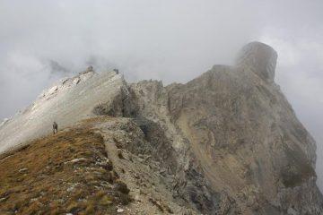 la cresta fra anticima e cima