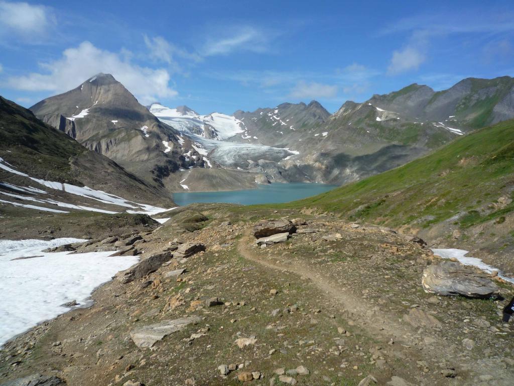 Ghiacciaio e lago del gries