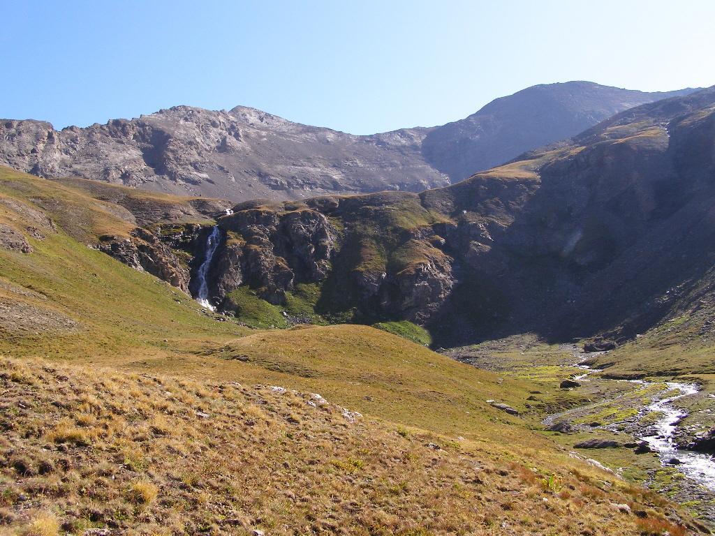 La cascata da raggiungere una volta lasciato il sentiero dell'Invergneux