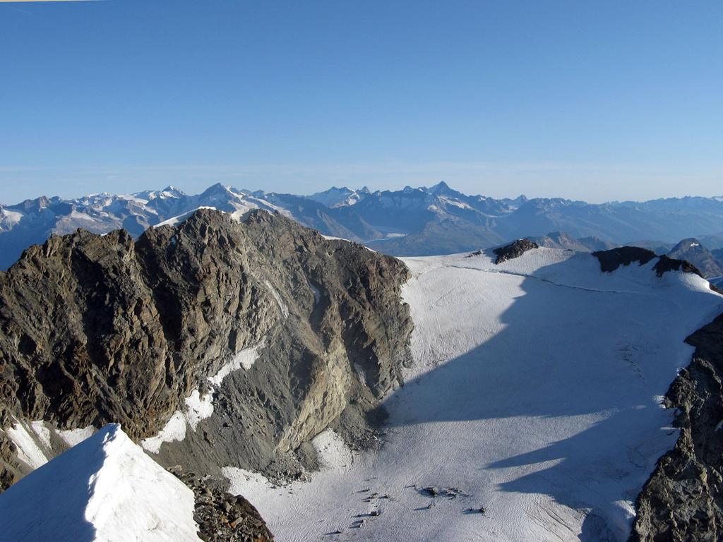 Il Fletschhorn dalla cima.