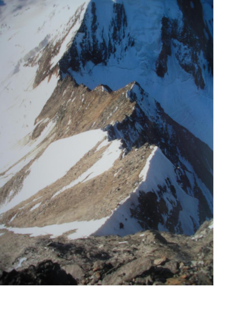 La cresta di salita ...dai pressi della vetta