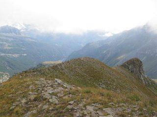 La cresta dalla cima del Palon