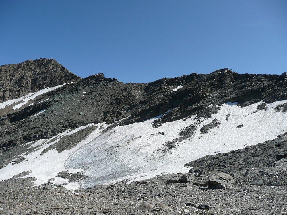 Cresta e ghiacciao