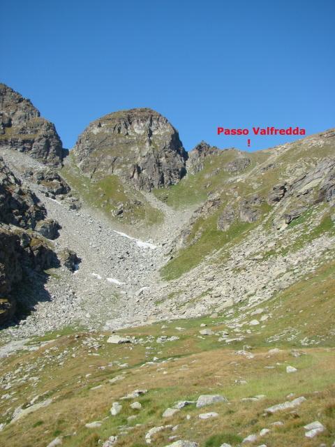 fondo vallone e passo Valfredda