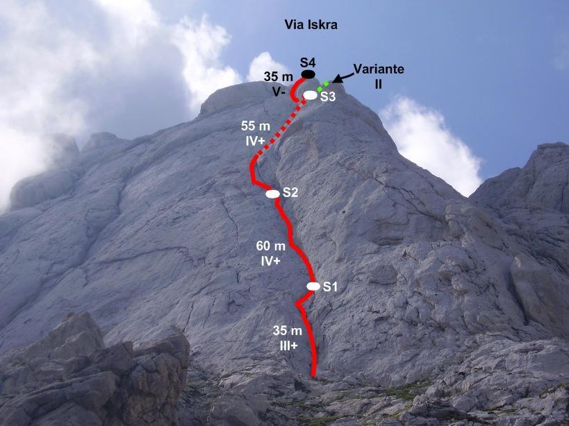 Corno Piccolo - Parete Nord Iskra 2009-08-31
