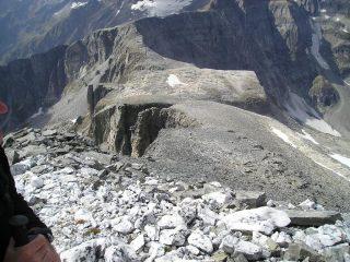 L'ampia cresta che sale dal Passo Boccareccio