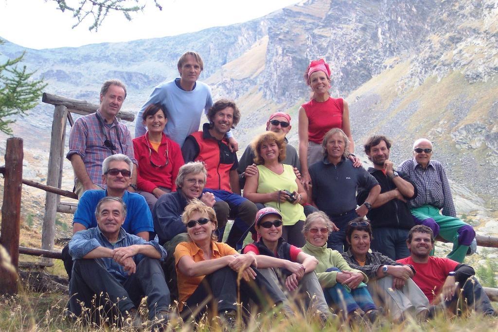 Foto di gruppo al casotto PNGP