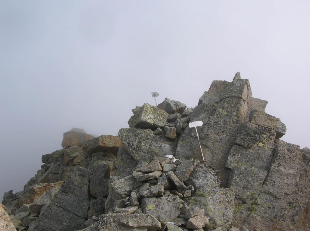 La sommità del Monte Unghiasse.