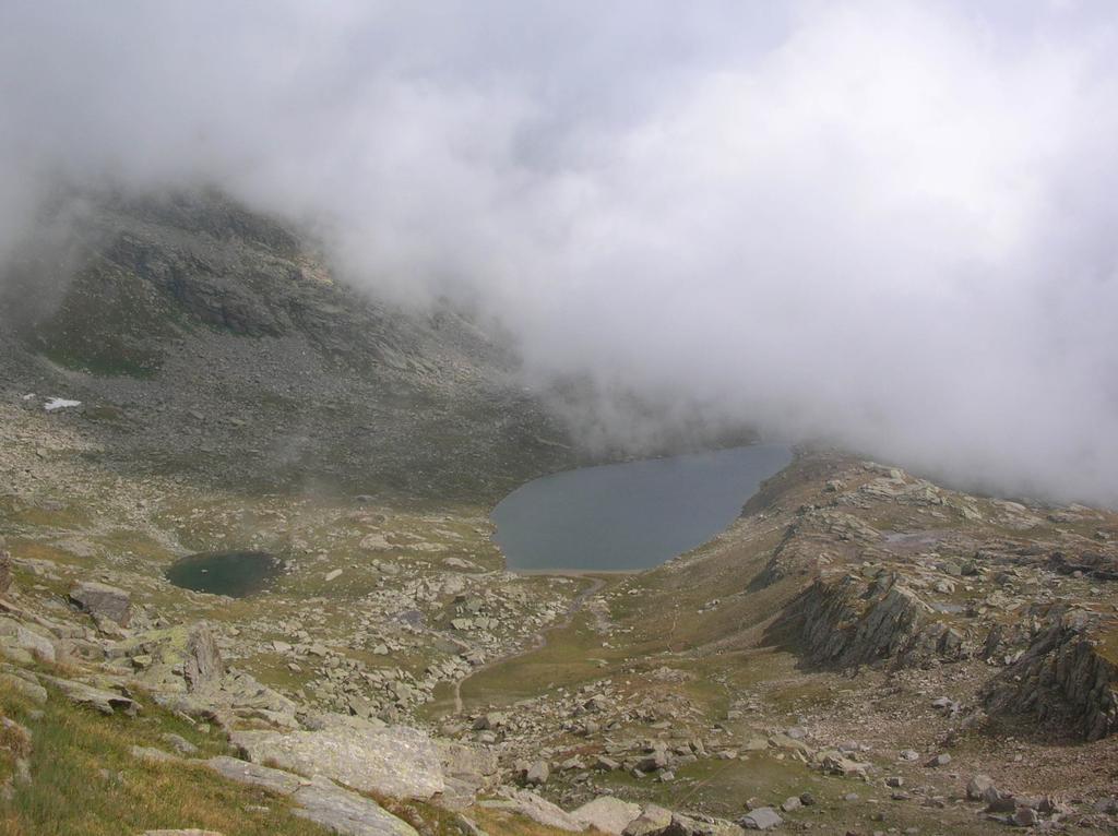 Il lago Fertà visto dal Colle della Terra.