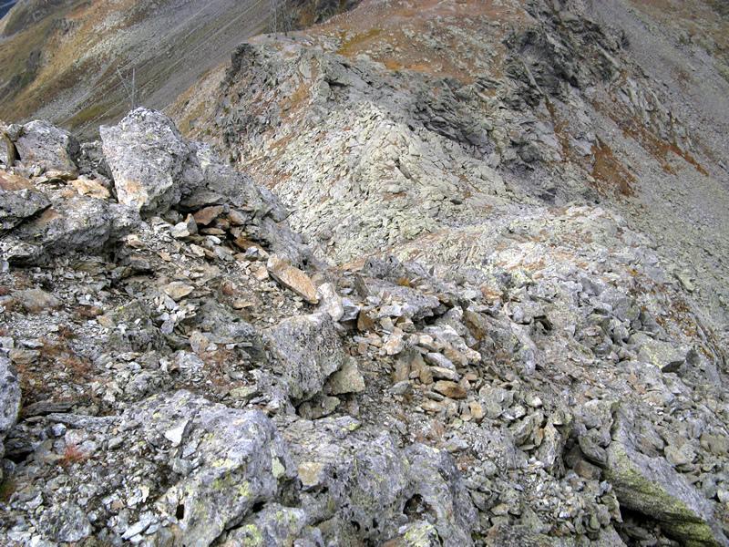 Cresta di discesa al Colle Occ. di Barasson