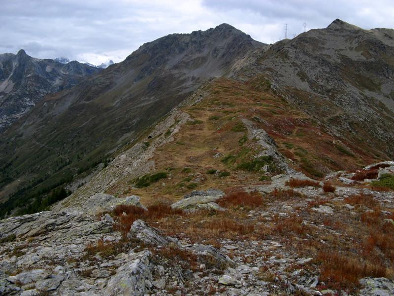 La Côte de Barasson dalla Tête de Tchoume. In alto a destra la Tête de Barasson.