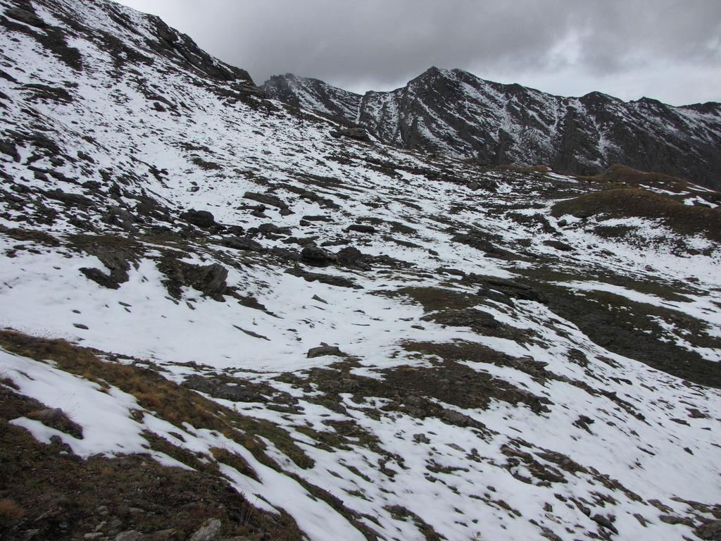 il Gran Queyron visto dal vallone di salita al Passo della Longia (20-9-2009)