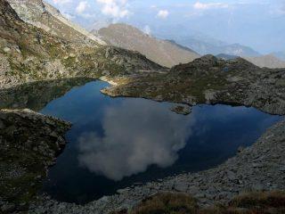 Lago di Cournouy dal Col de Breuil