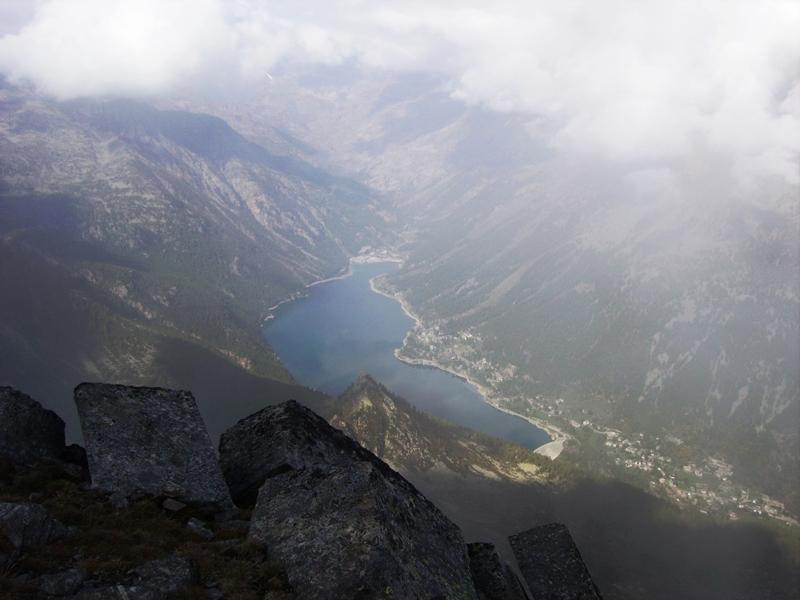 il lago di Ceresole dalla cima della Crocetta