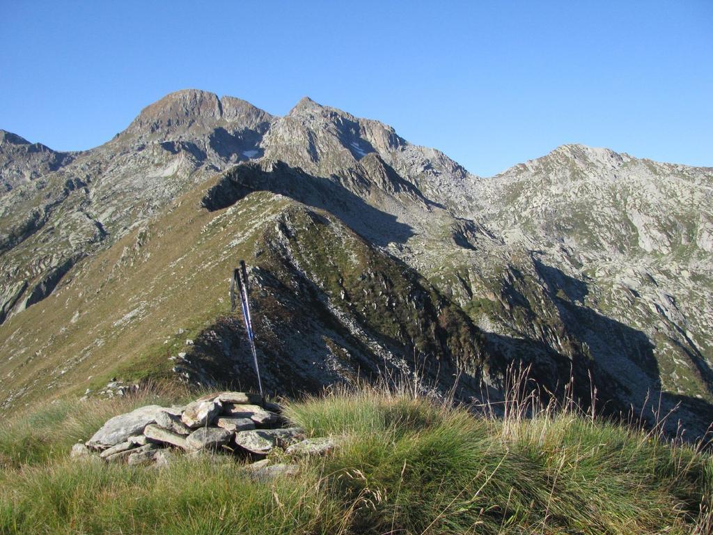 La cresta di salita alle P. Burè, vista dal M. Rosso