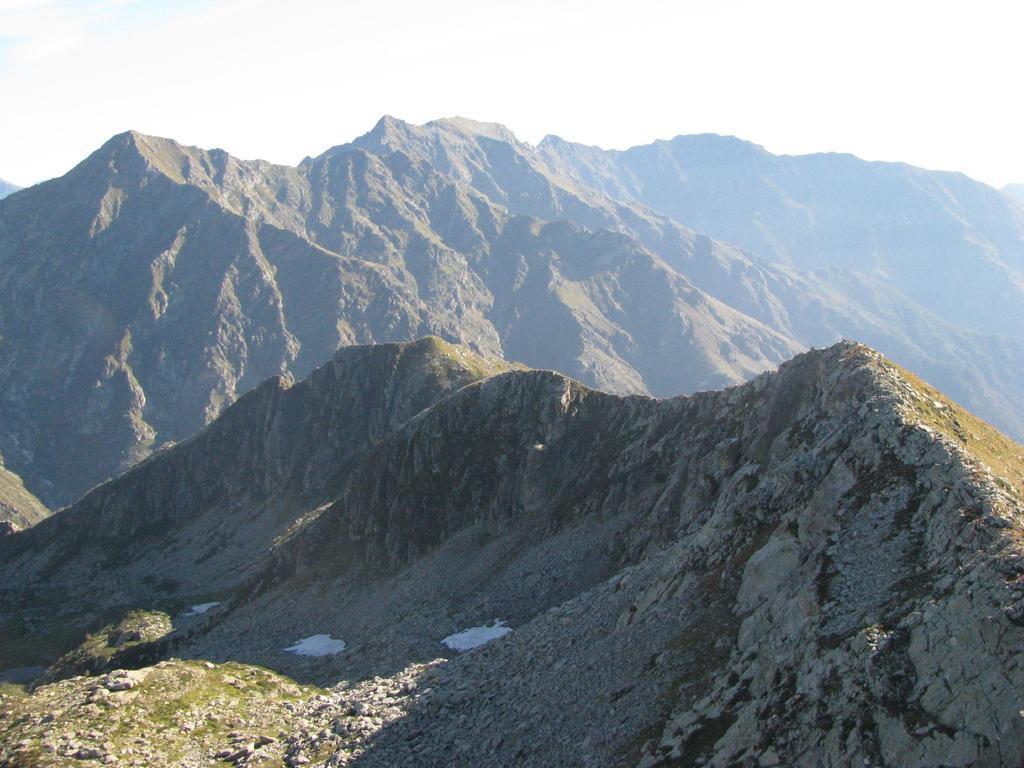La cresta vista dalla cima della P. Occ. dei Burè