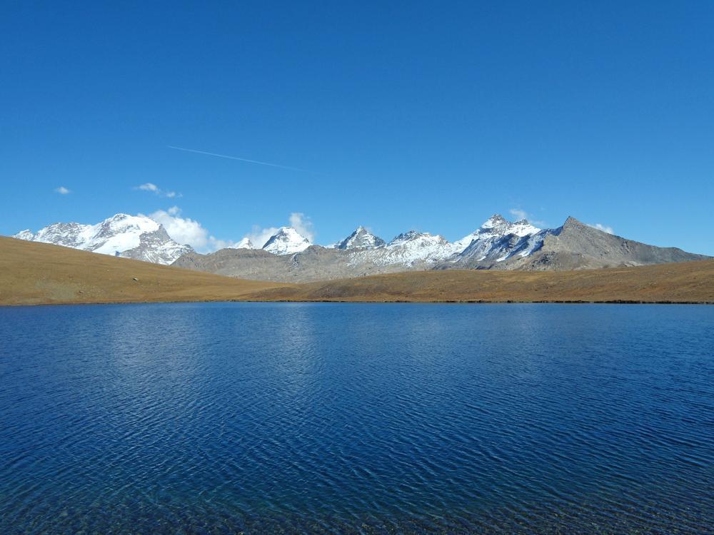 Vista dal lago Rosset
