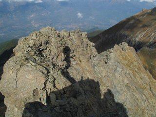 La cresta dall'alto