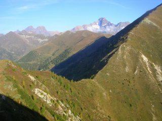 La bocchetta del Valdone vista dai pressi della cima del Rolla