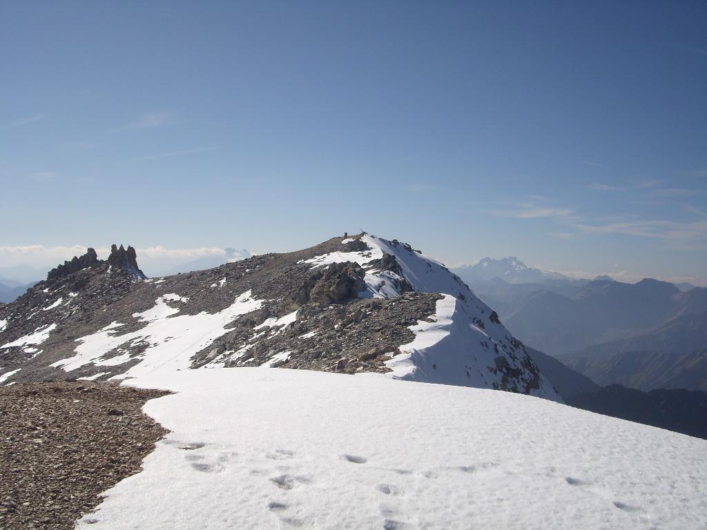09 - Vetta del Sommeiller vista dalla cresta verso il M.te Ambin
