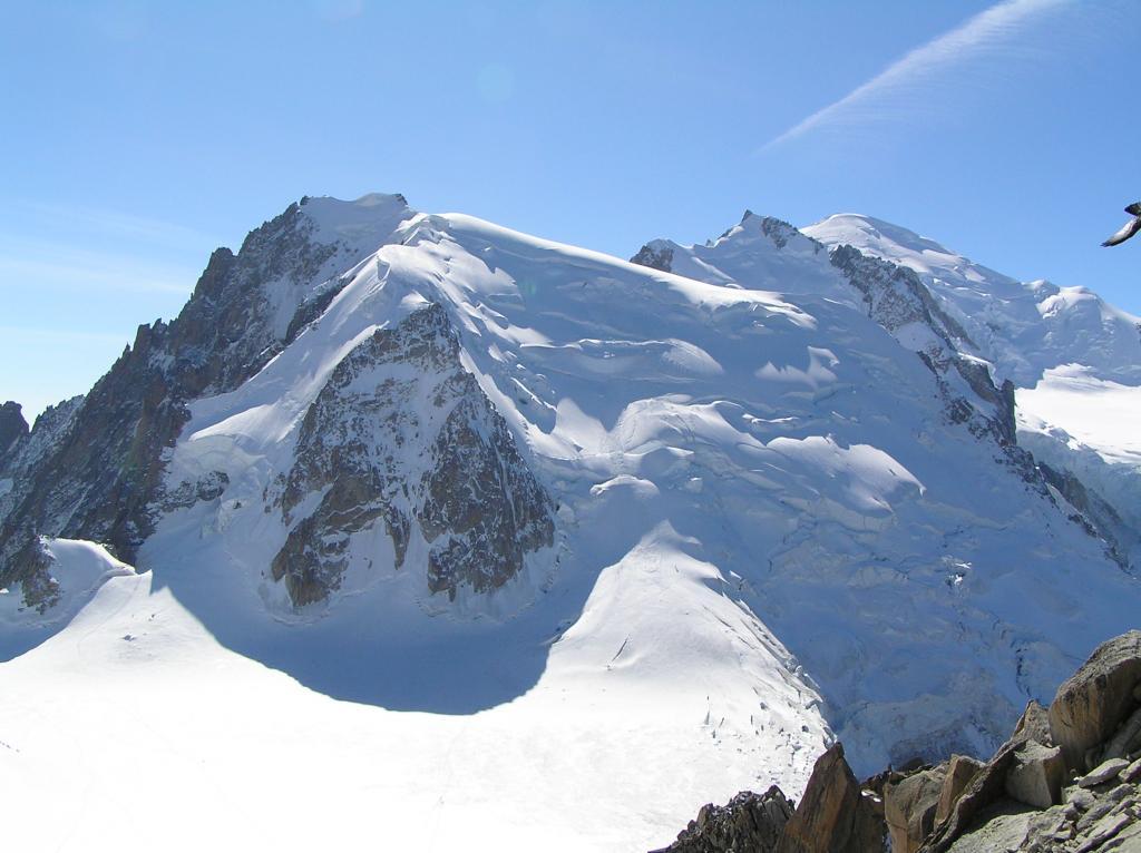 Panorama sul Tacul, Maudit e vetta del Bianco