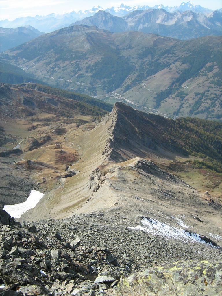 la cresta finale vista dalla cima