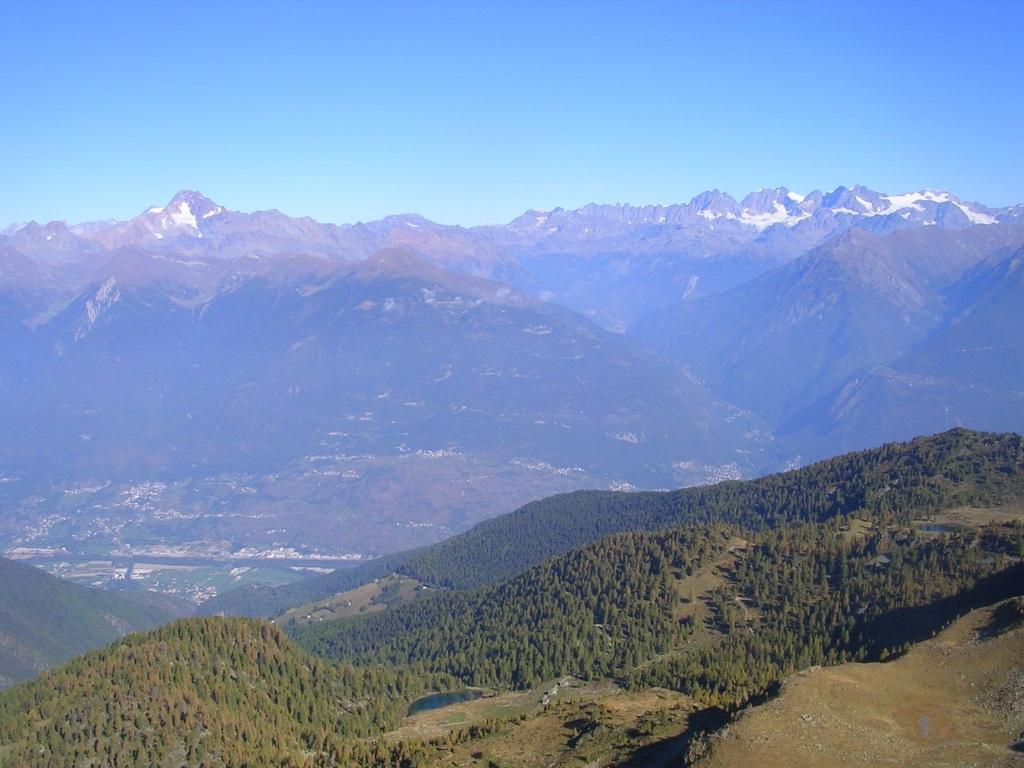 panorama dalla cima del Campaggio