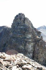 la vetta principale dalla cima NO