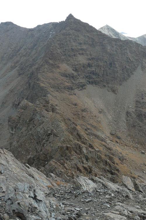 la cresta vista dalla cristalliera (ottobre 2008)