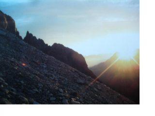 Salendo al Pizzo Rotondo all'alba...