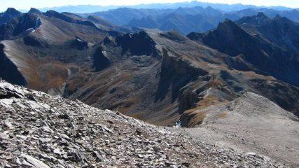 La dorsale dalle basse di Terrarossa vista dalle vetta