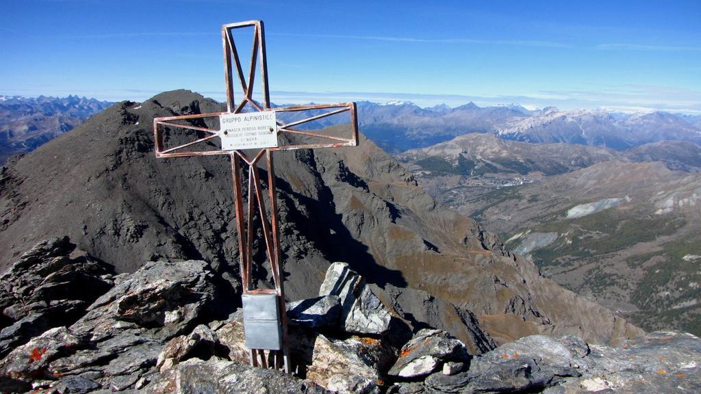 la vetta della Punta Serpentiera (11-10-2009)