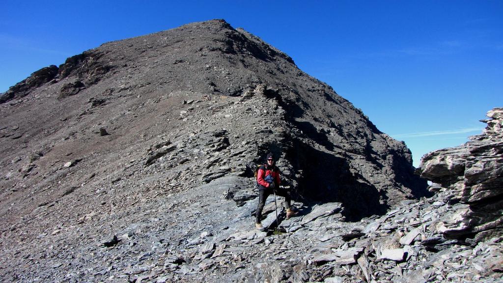 Stelvio al Colle del Pelvo, con la Cima del Pelvo appena dietro (11-10-2009)
