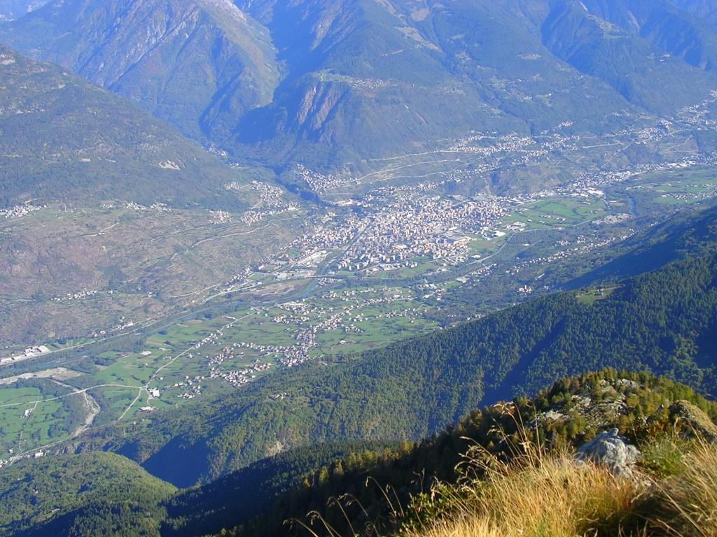 La città di Sondrio vista dal Pidocchio