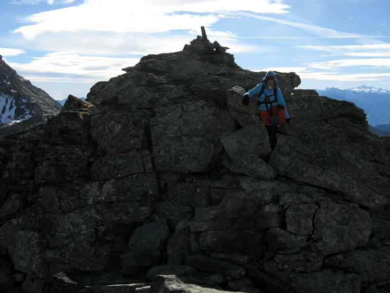 L'intaglio della cima sud