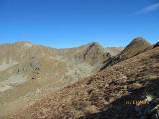 Cresta di discesa dal Tantane' verso spartiacque ayas