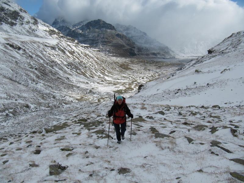 Salendo nella neve
