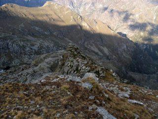 Verso la Bura at Talurn, a sx il lago Creus